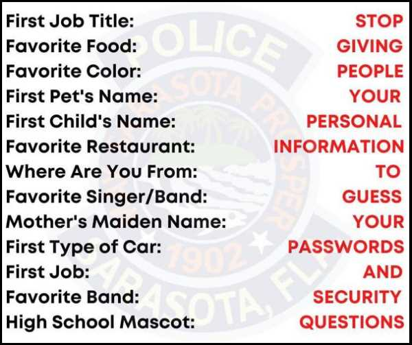 Security Questions